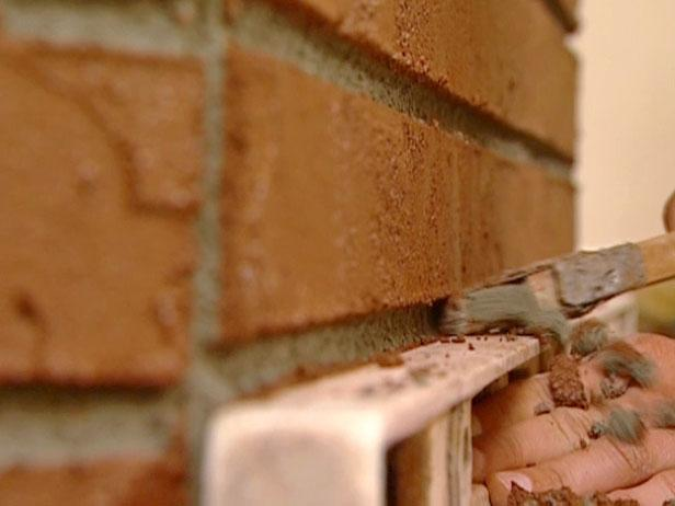 create look of bricks and mortar