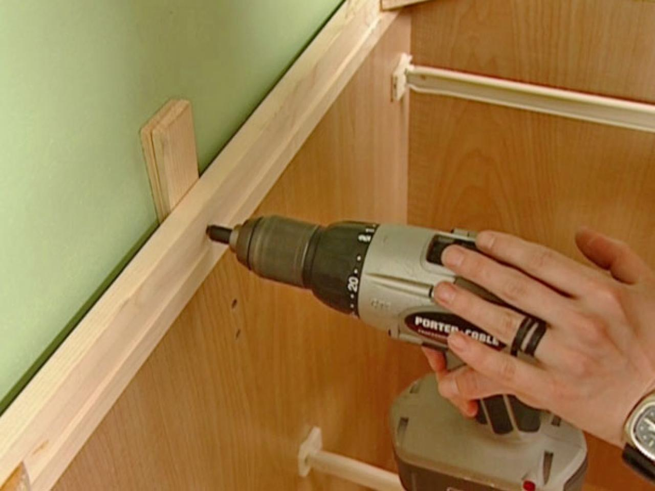 diy installing kitchen cabinets how to install a new cabinet how tos diy 6814