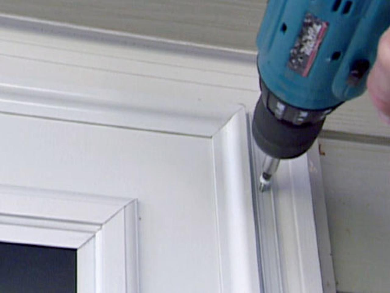 How To Install A Wood Core Aluminum Storm Door How Tos Diy