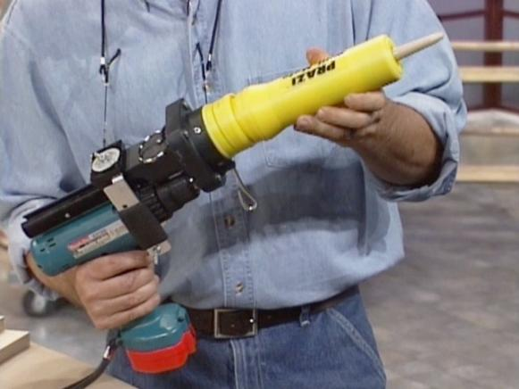 drill mate turns drill into power caulking gun