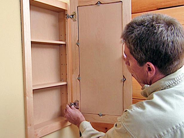 diy bathroom wall cabinet how to attach a pre fabricated medicine cabinet how tos 18152