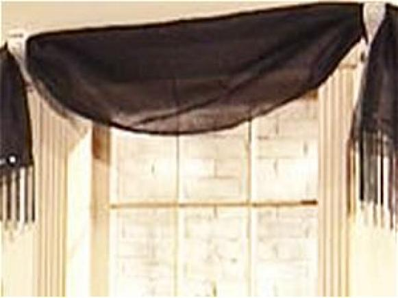 consider making a window valance using a scarf