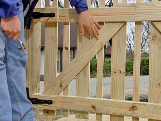 cross bracing added to gate for strength