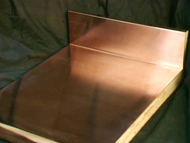 copper makes an unusual countertop choice