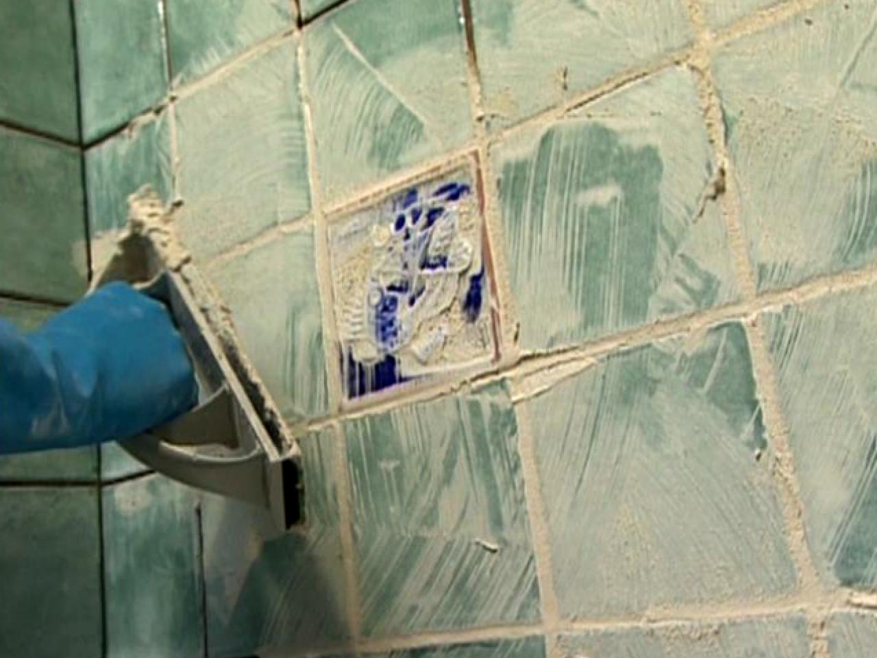 Grouting tile how tos diy apply grout diagonally to the joints dailygadgetfo Images