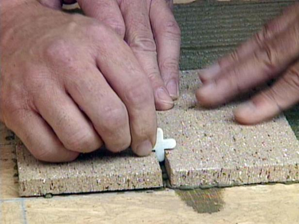 spacers will ensure proper spacing between bricks