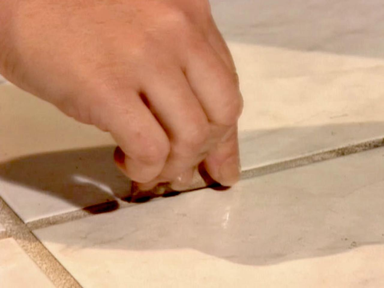 How to clean kitchen floor grout how tos diy sandpaper could be the answer to dirty grout dailygadgetfo Images