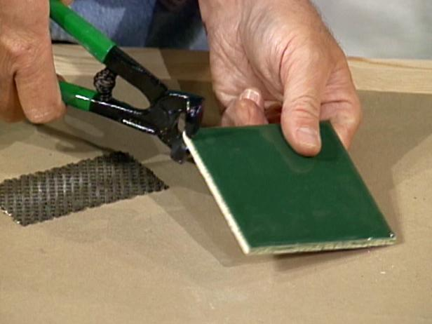 Use Tile Nippers To Cut Tiles For Small Places