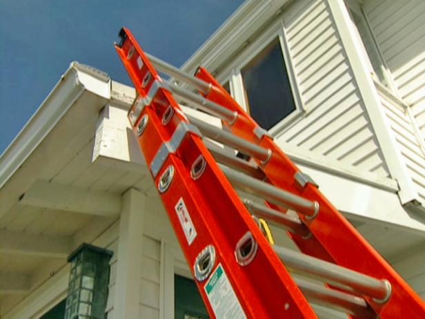 How to install gutter covers how tos diy dont damage gutters by propping a regular extension ladder against them an articulating solutioingenieria Choice Image
