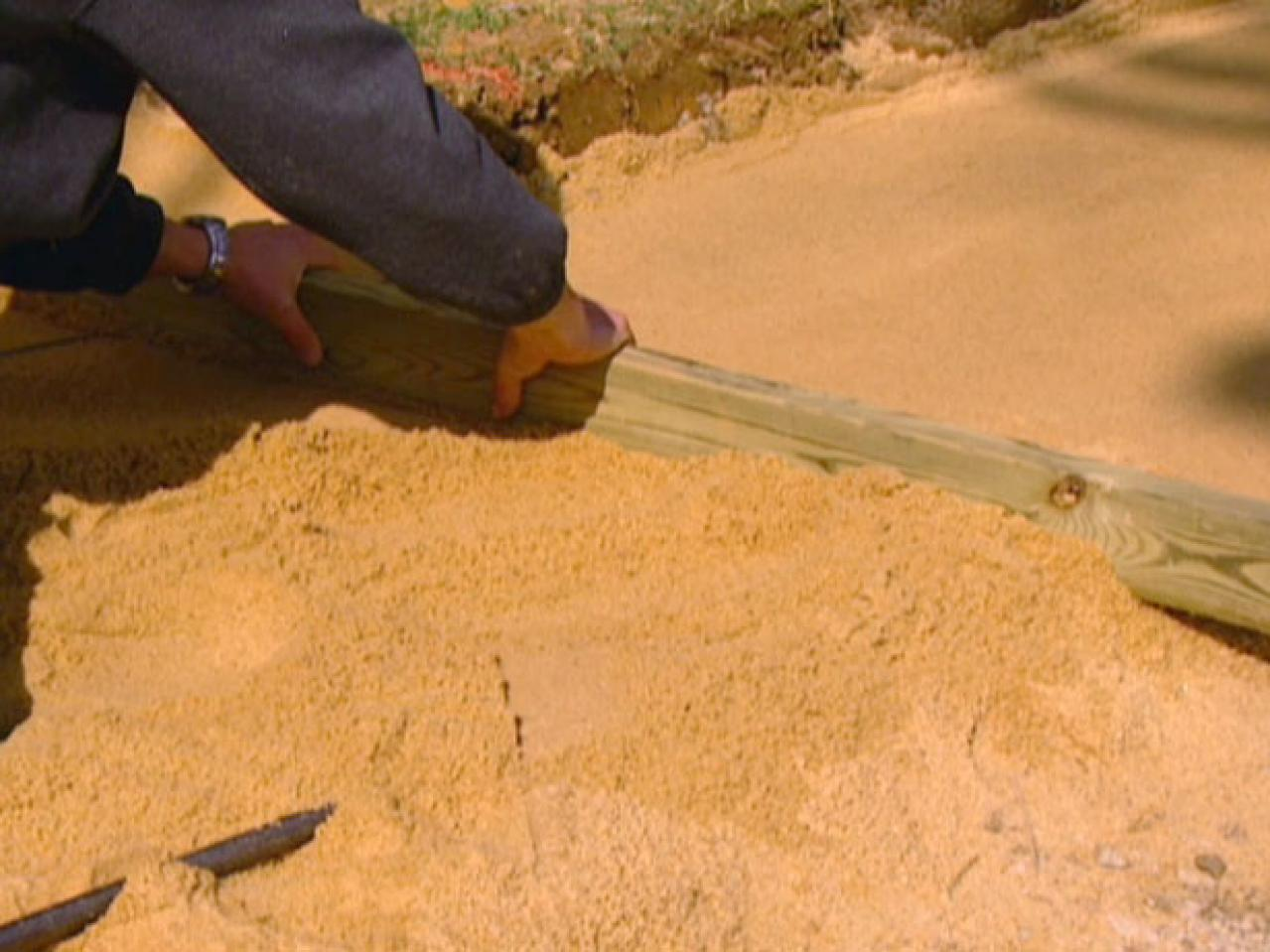 Step 7. screed sand before laying pavers & How to Build a Paver Patio | how-tos | DIY
