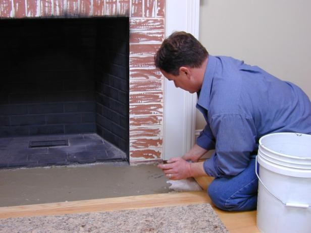 Reface A Fireplace With Stone Veneer How Tos Diy