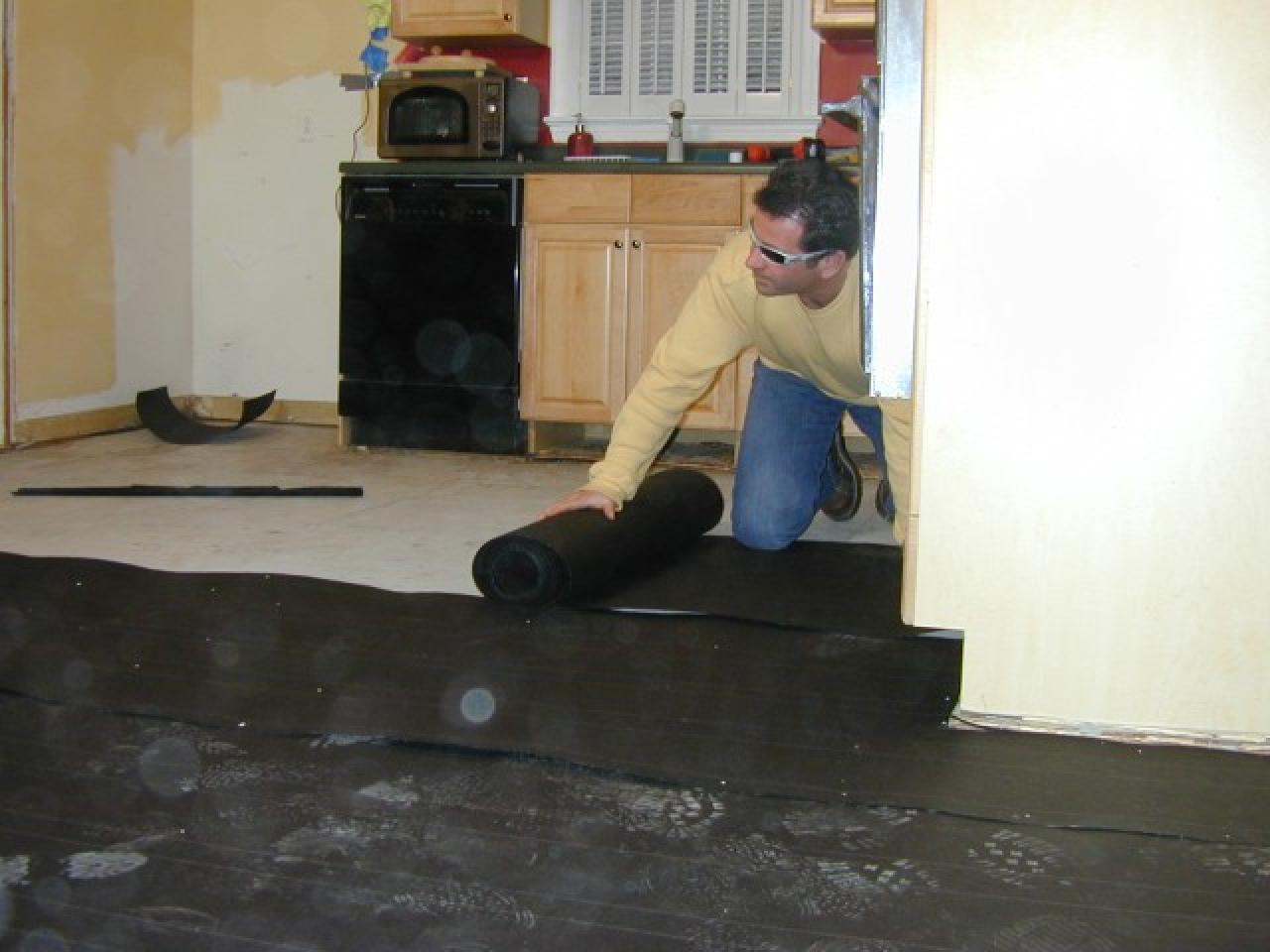 How to install a base for a concrete floor how tos diy installing the felt paper solutioingenieria Choice Image