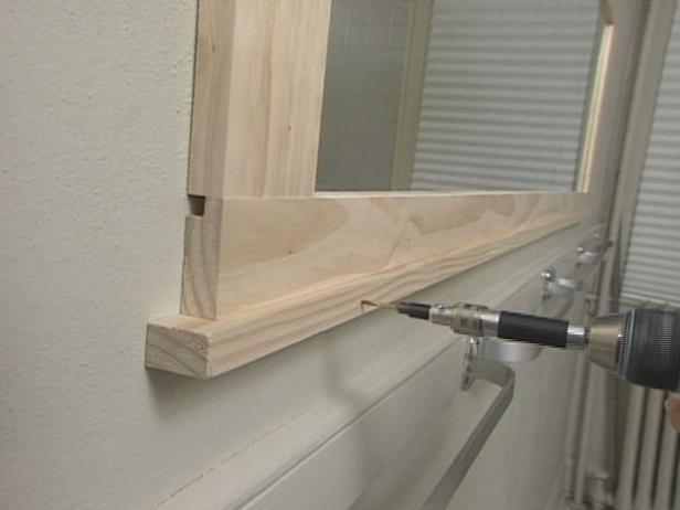 How To Frame A Bathroom Mirror How Tos Diy