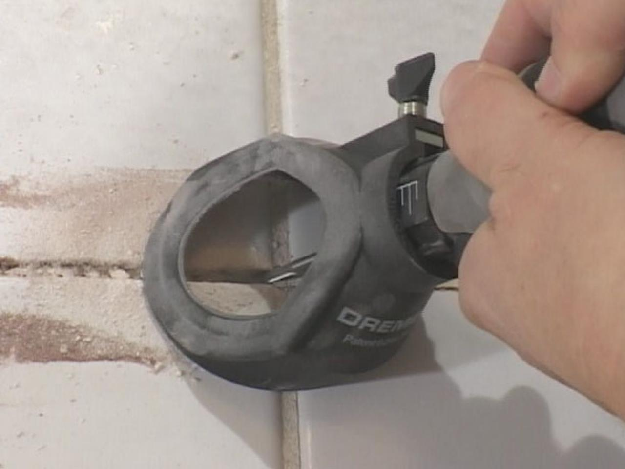 How to remove and replace grout how tos diy use rotary tool to remove grout in larger area dailygadgetfo Images