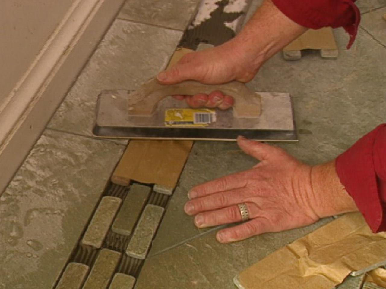 How to border and seal a slate floor how tos diy step 5 dailygadgetfo Image collections