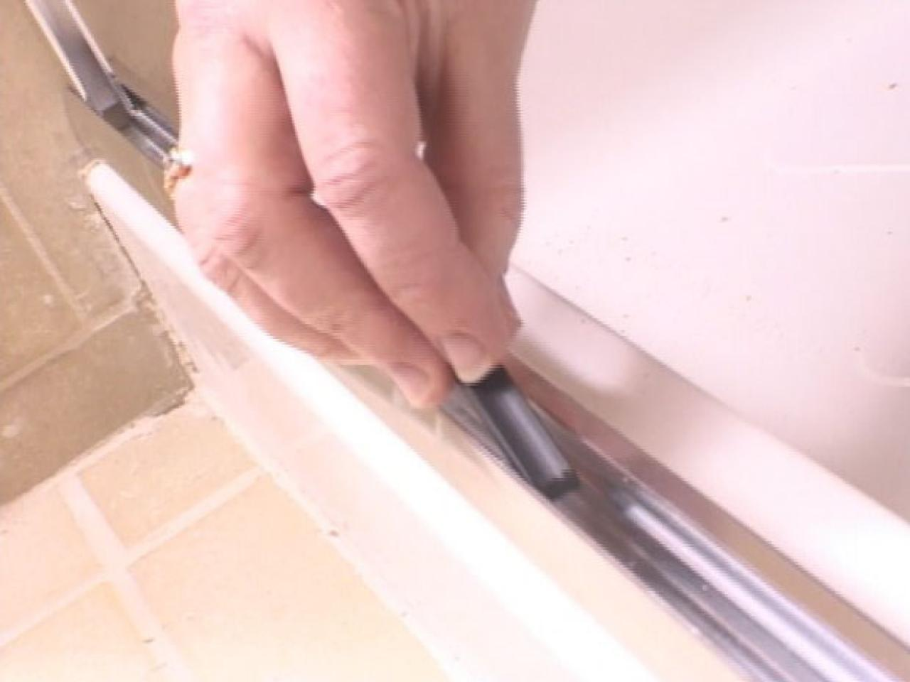 Installing A Glass Shower Door Howtos DIY - Bathroom shower glass replacement