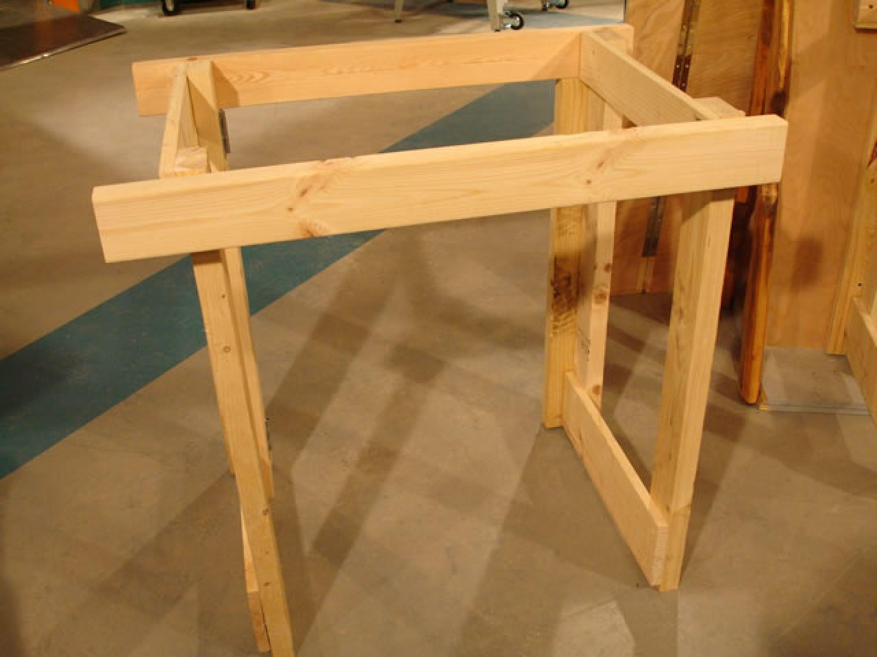 How to make a fold down workbench how tos diy Table making ideas