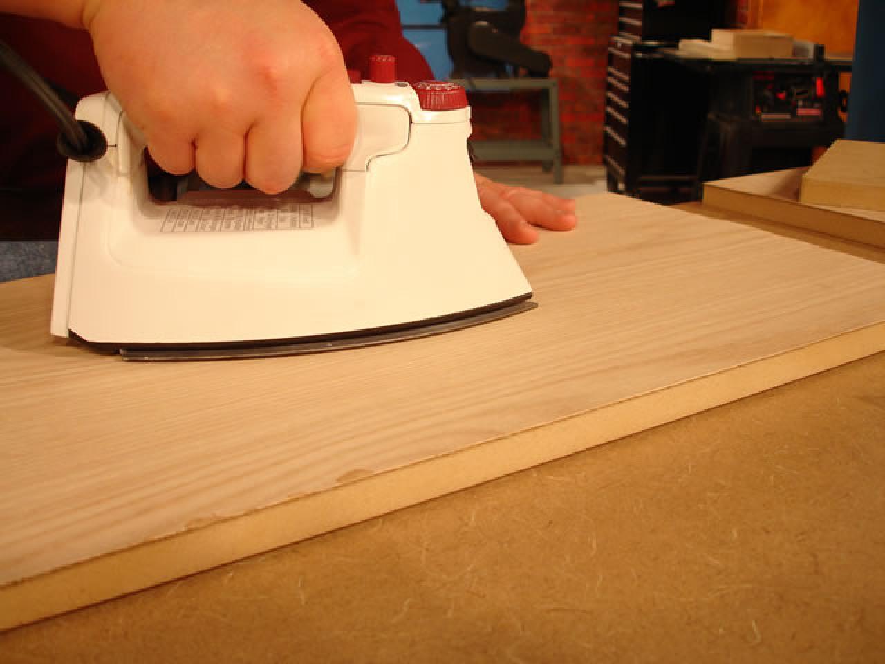 Veneer application tools diy use iron on high heat to melt adhesive on veneer solutioingenieria Gallery