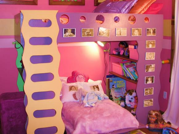 build a play loft based on space and imagination