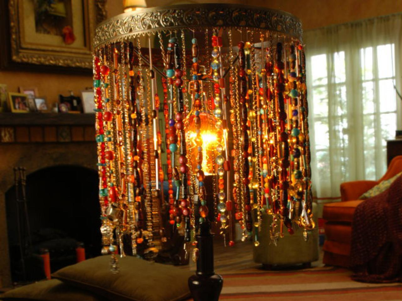 Bohemian Beaded Lamp Diy