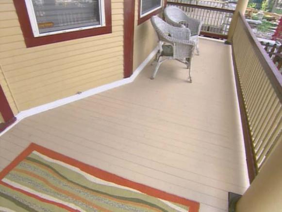 Composite wood deck
