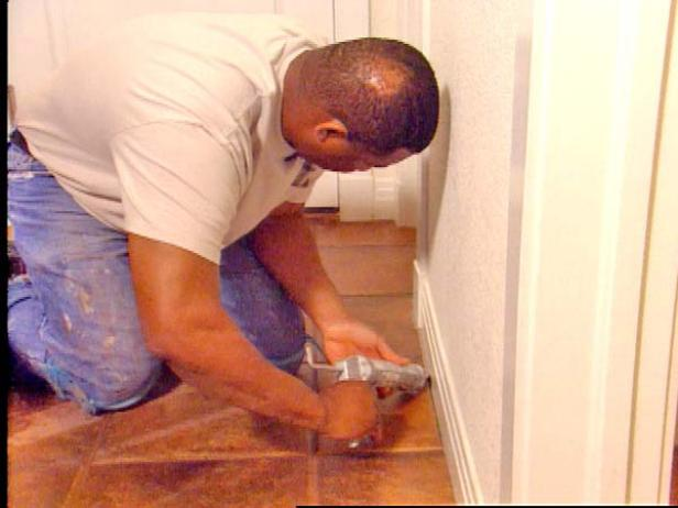 caulk around the edges