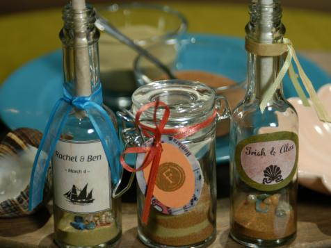 Bridal Favors: Message in a Bottle