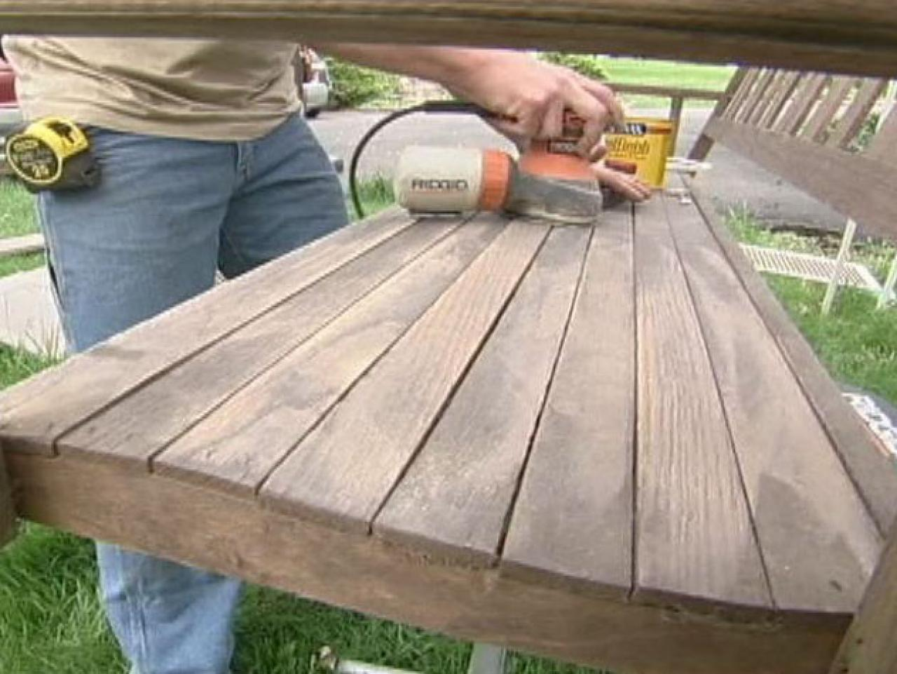 how to refinish a porch swing how tos diy. Black Bedroom Furniture Sets. Home Design Ideas