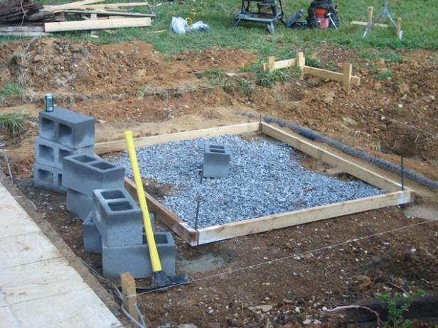 How to install a hot tub deck how tos diy for What temperature to pour concrete outside