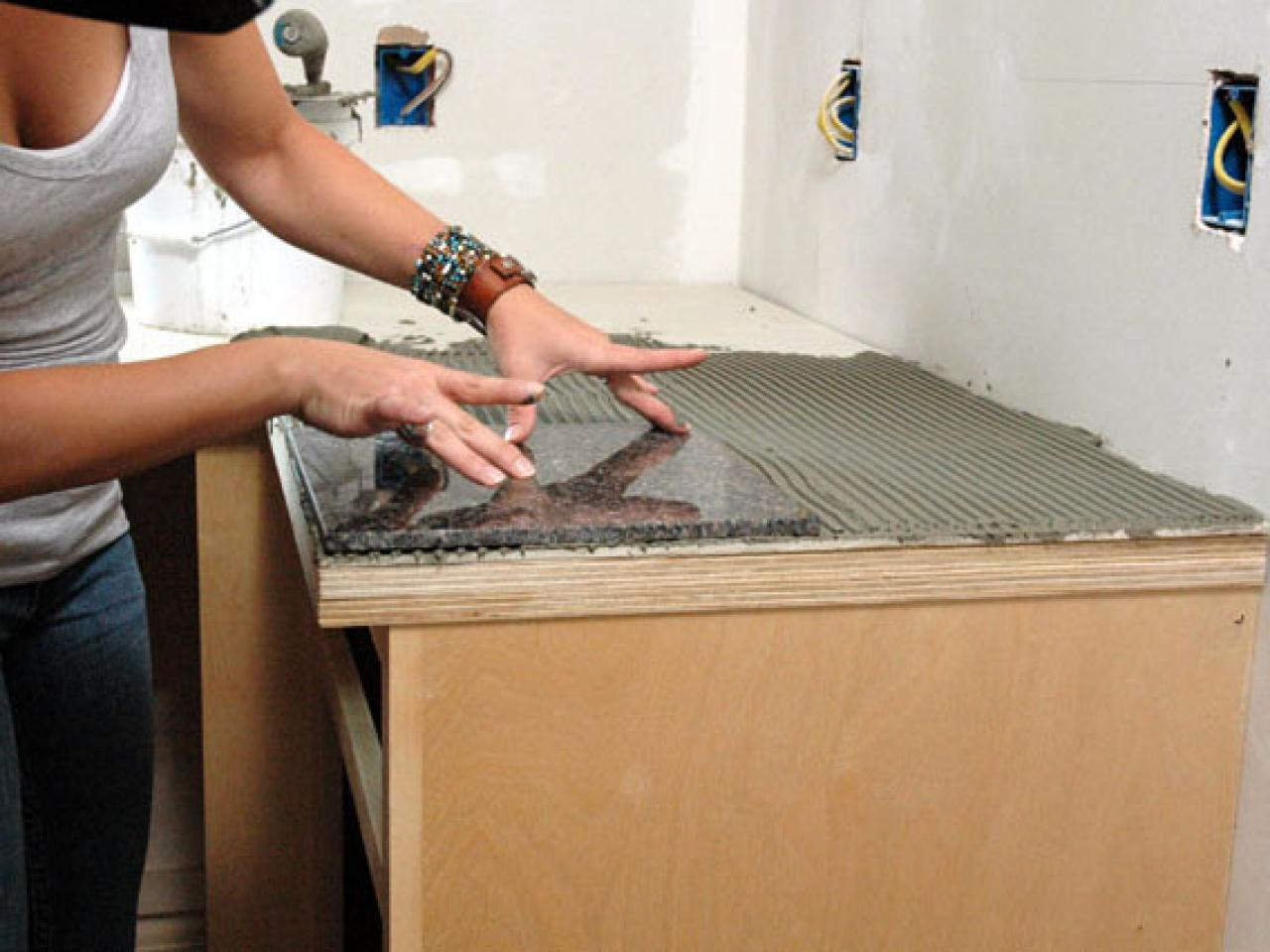 How To Install A Granite Tile Kitchen Countertop Tos Diy