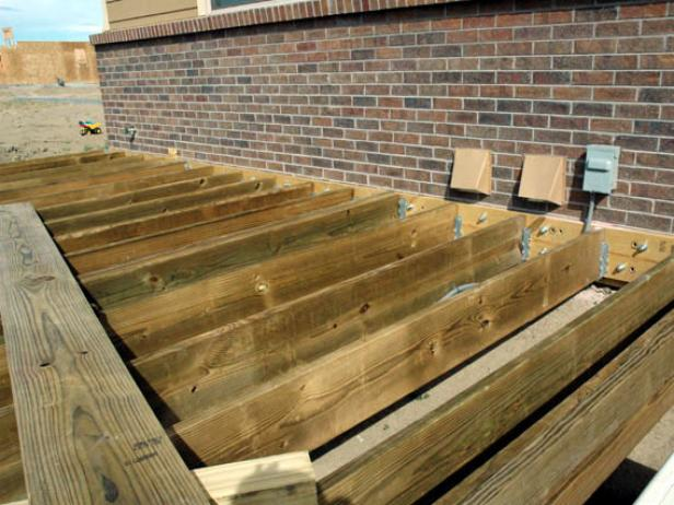 When all your joists are in (Image 1), you can begin your decking.