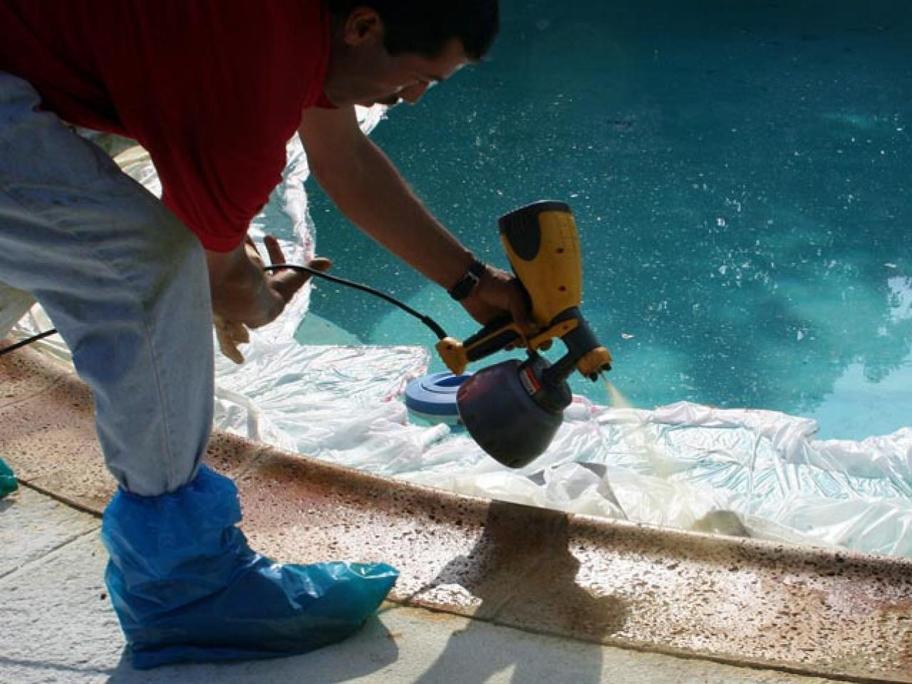 How to resurface a pool patio how tos diy for Painting aluminum swimming pool coping