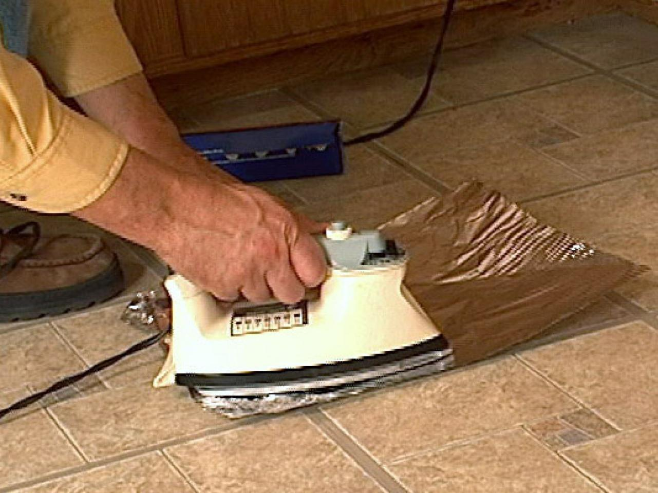 How to fix curling vinyl floor tile how tos diy step 1 dailygadgetfo Image collections