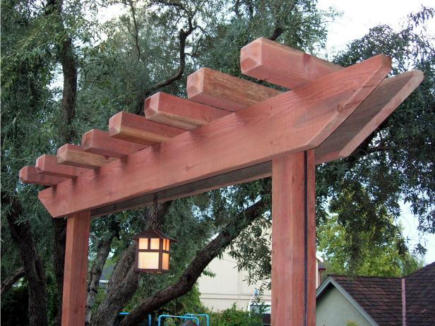 How To Build A Redwood Arbor Tos