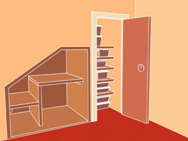 How To Build An Office Under The Stairs How Tos Diy