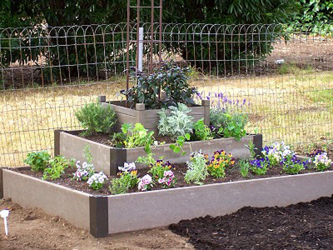 area raised simple deck beds a build bed building corrugated iron garden diy gardening