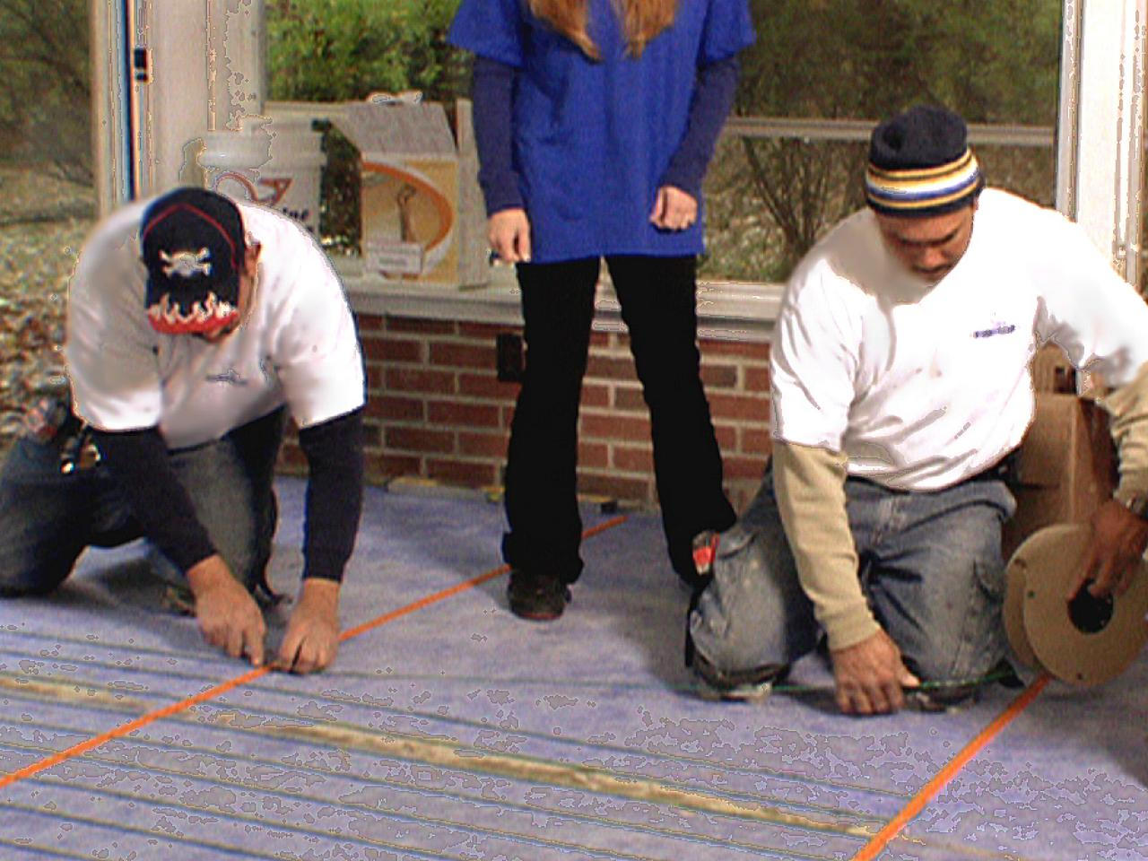 How to install a heated tile floor how tos diy dmam113cables dailygadgetfo Image collections