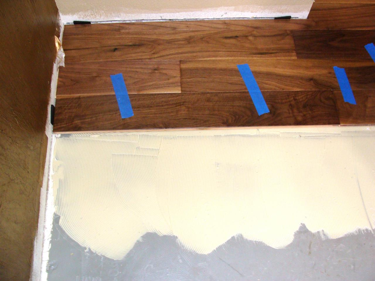 Installing Hardwood Flooring Over Concrete Howtos DIY - How to level floor for laminate on concrete