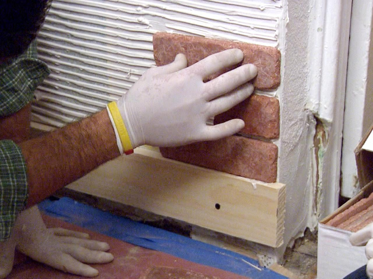 Can You Glue Concrete Face Brick To A Painted Drywall