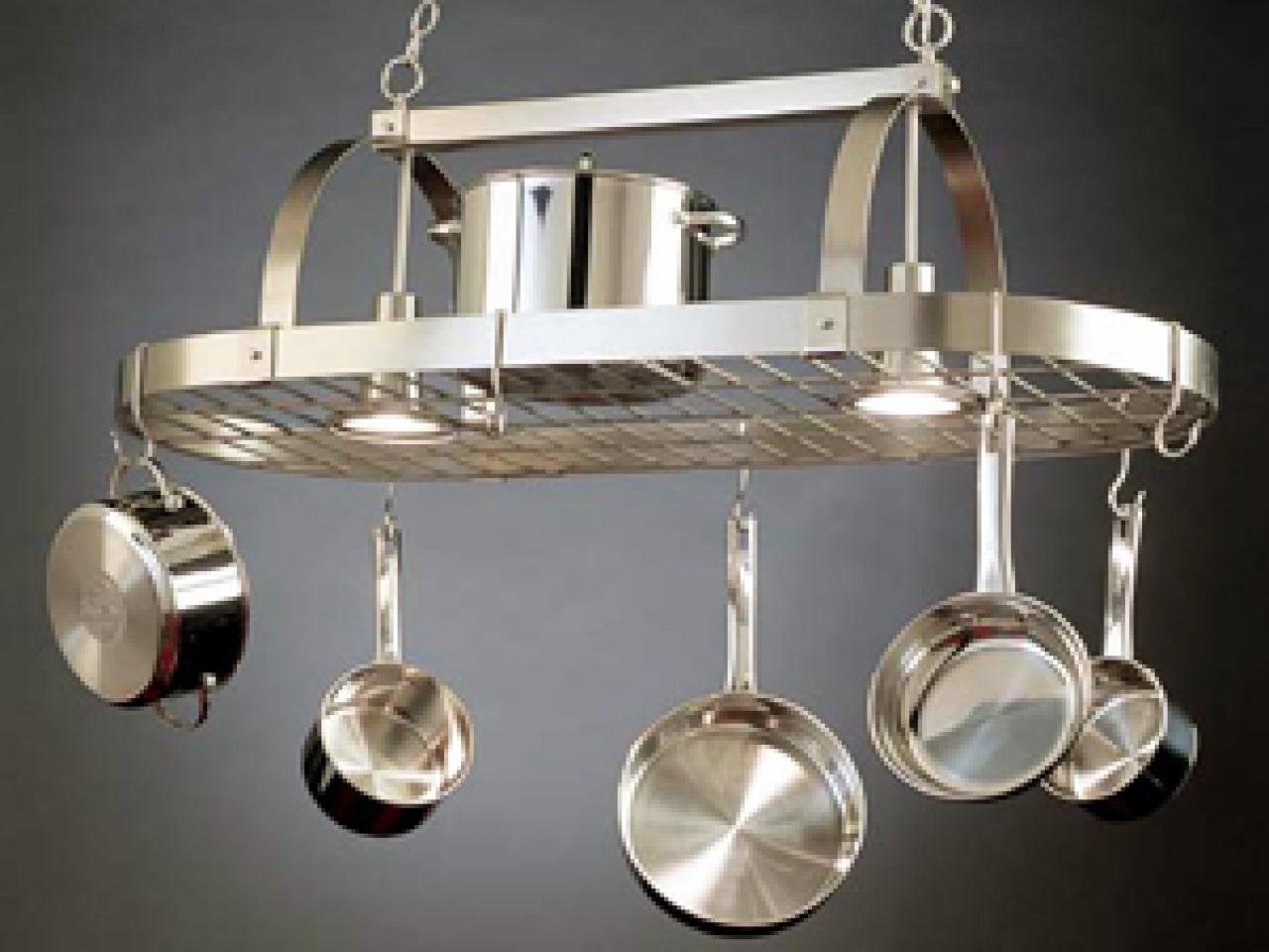 A Pot Rack In Its Proper Place