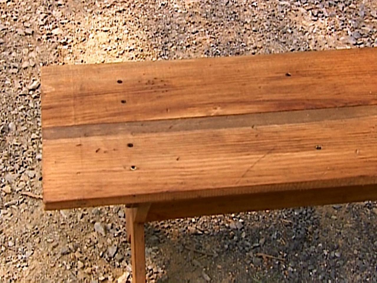 Wood Bench Ideas Part - 34: How To Build A Distressed-Finish Bench