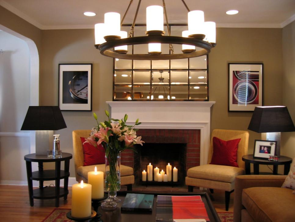 Hot fireplace design ideas diy Color ideas for living room with brick fireplace