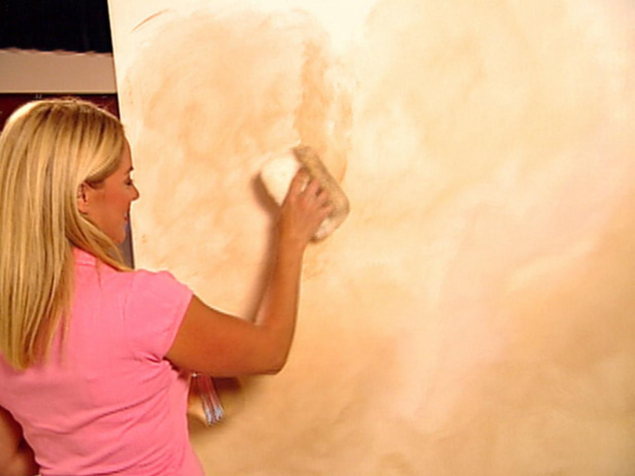Decorative Paint Technique Color Washing A Wall How Tos Diy