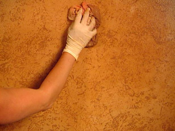 Carefully Apply Glaze to Walls with Foam Roller