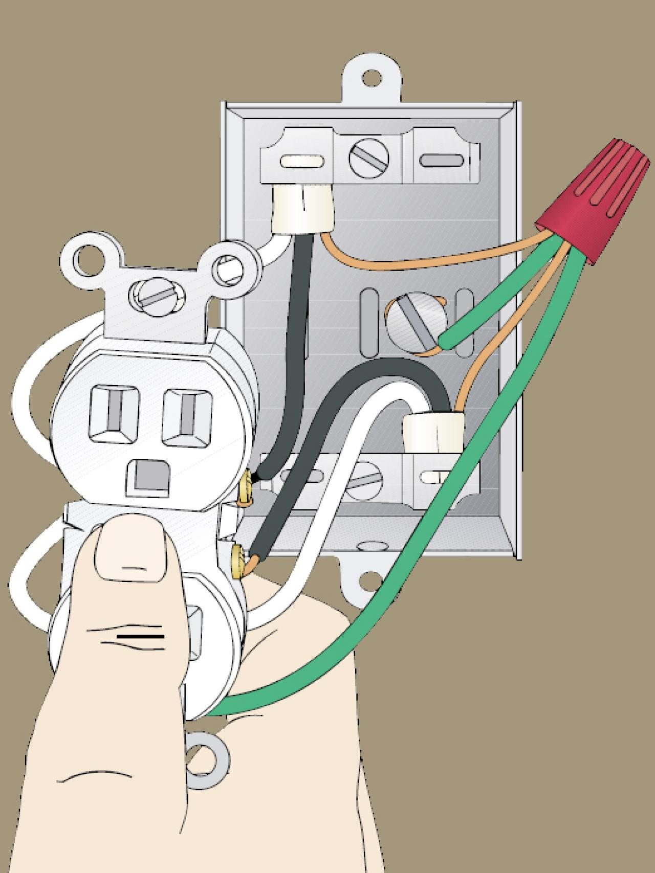 How To Identify Wiring Diy Read A Electrical Circuit Diagram As Well Simple Middle Of Run Outlet