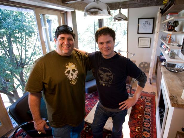 Tony Siragusa and Rainn Wilson