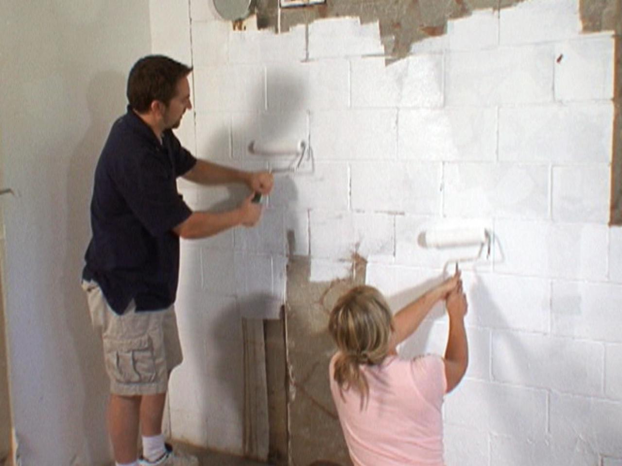 Amazing Basement Waterproof Paint Decorating Ideas How to Waterproof a Cinderblock Wall