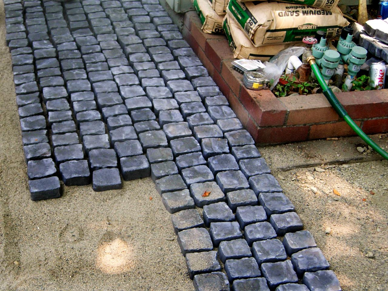 How To Install A Cobblestone Patio On Concrete Or Bare Soil How - Cost to lay outdoor tiles
