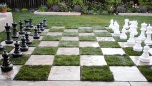 Backyard Chessboard Patio