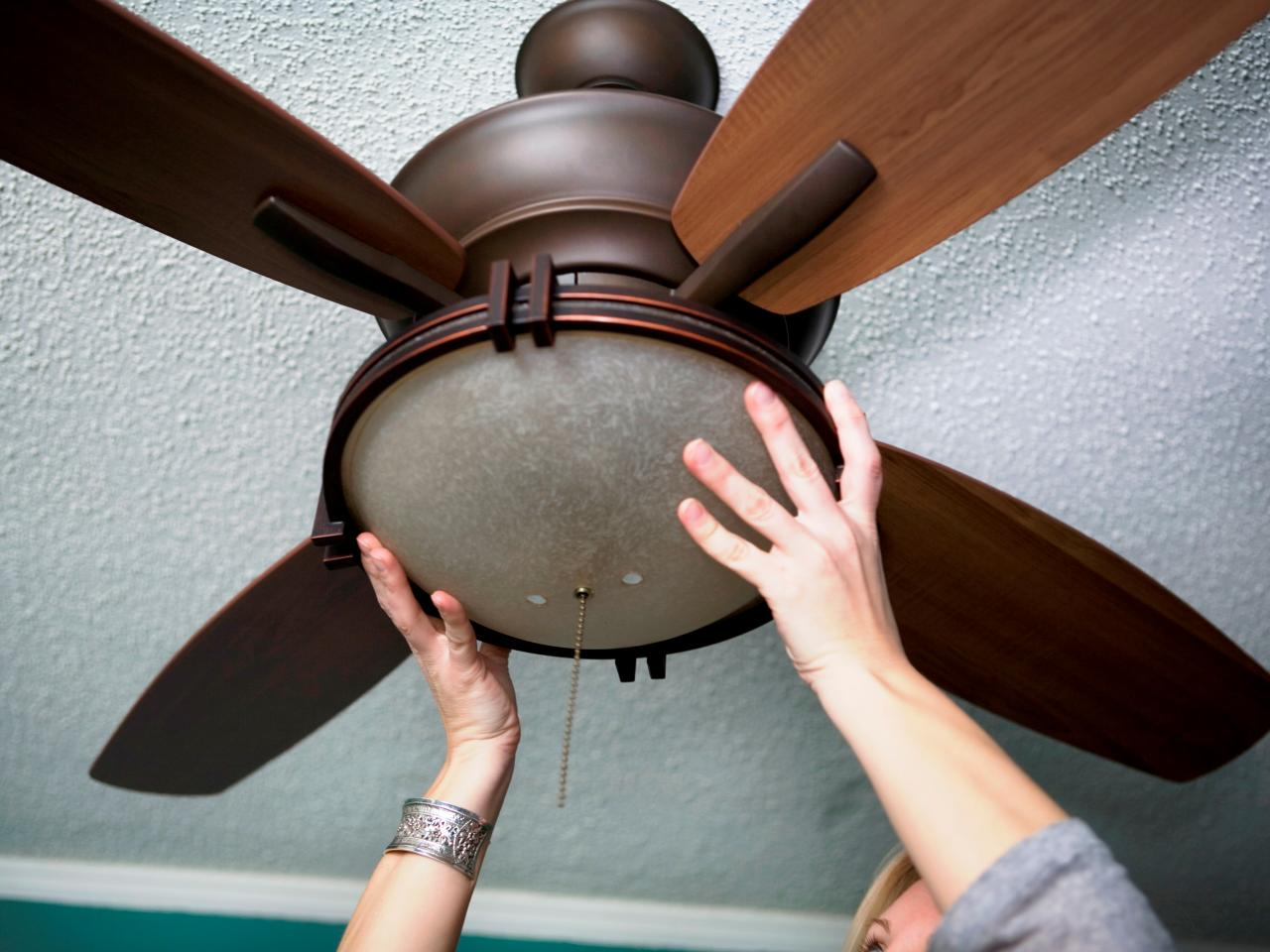 How to Replace a Light Fixture With a Ceiling Fan | how-tos | DIY